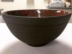 Side view. #clay #ceramics #ceramicist #ceramicart #ceramicartist #pottery #artist #glaze #creative #create #design #porcelain #stoneware #homewares #tableware #bowl #bowls #contemporaryceramics #wheelthrown  #wheelthrownceramics #australianceramics #australianmade #handmade #handmadeinaustralia #australiandesign #chantalandcorey #red #nothingisordinary #etsy #etsyau