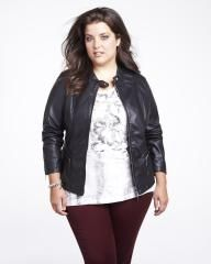 pleather jacket with knit | Shop Online at Addition Elle
