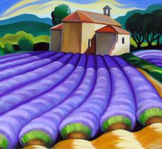 Humming Bees in Lavender, France ~ Tracy Turner