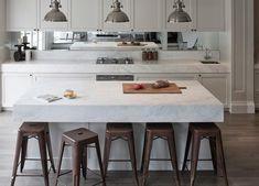Elba White marble from cdk stone Basement Kitchen, Kitchen Reno, Kitchen Ideas, Stone Gallery, Kitchen Pictures, Laundry In Bathroom, Elba, Beautiful Kitchens, Contemporary Interior
