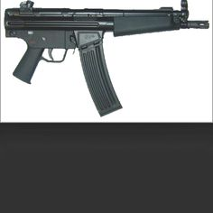 Vector v53p pistol in 223.  Mp5 clone. Do want.