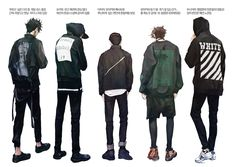 You were born unique, you live a unique lifestyle, so why would you wear the same brand that everyone else is wearing? Ushijima Wakatoshi, Bokuto Koutarou, Kuroo Tetsurou, Handsome Anime, Drawing Clothes, Haikyuu Anime, Manga Illustration, Pose Reference, Indie Brands