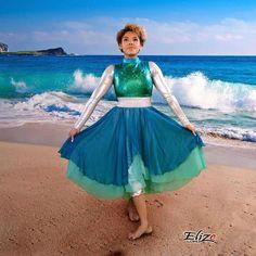 Deap in the Ocean Dance Dress Praise Dance Wear, Praise Dance Dresses, Worship Dance, Alvin Ailey, Royal Ballet, Ballet Bolshoi, Indowestern Saree, Dark Fantasy Art, Garment Of Praise