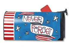 Patriotic Tribute Magnetic Mailbox Cover by Mailwraps