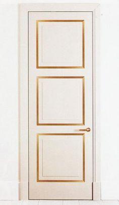 gold trim detail on doors