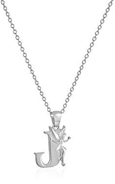 "Disney ""Tinkerbell"" J Initial Silver Pendant Necklace, 18... https://www.amazon.com/dp/B00843JDIK/ref=cm_sw_r_pi_dp_x_H4j7xbN0SANKS"