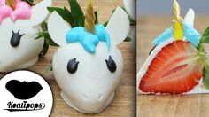 Unicorn Dipped Strawberries - diy video tutorial from koalipops