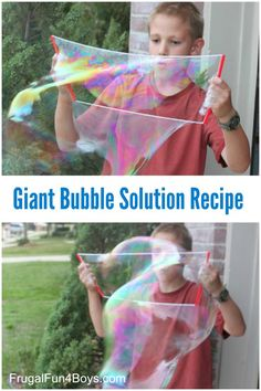 Recipe for Giant Bubble Solution