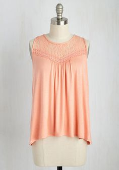 Sweet-Spirited Top in Peach, @ModCloth