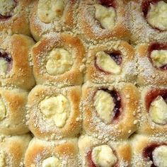 Best kolaches ever!! I make the dough in my bread machine and complete them in the oven! A family favorite !