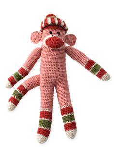 Sock Monkey - Free Crochet Pattern - (yarnspirations)