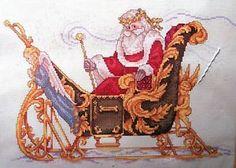 VICTORIAN SANTA, The Snowmaker, Christmas Cross Stitch Kit