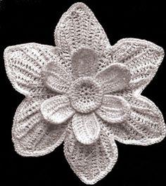 irish crochet patterns free   Vintage Irish Crochet Narcissus Flower Motif Pattern   eBay