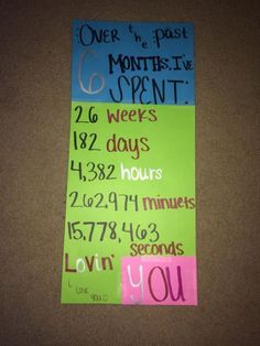 6 Month Card Easy Diy Anniversary Gift Ideas For Him Boyfriend