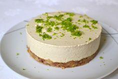 Cheesecake de lima e limão (paleo, sem glúten, sem açúcar e raw!)