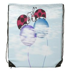 Nowhere But Up From Here Drawstring Backpack.  $17.95