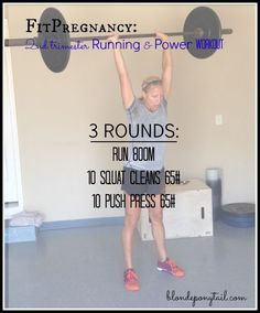 During this pregnancy, I intend to keep lifting heavy and incorporating CrossFit into my training Hope you enjoy this second trimester running workout! Crossfit Workouts At Home, Mini Workouts, Crossfit Motivation, Lifting Workouts, Crossfit Lifts, Rowing Workout, Cheer Workouts, Wod Workout, Workout Songs