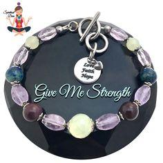 Strength Grief Depression Healing Crystal Reiki Gemstone Bracelet