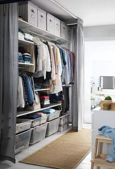 Bedroom Storage Ideas For Clothes, Clothes Cabinet Bedroom, Clothing Closet  Organization, Ikea Clothing