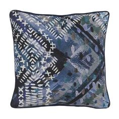 Bring soft luxurious texture to your bed with our Dutch Lace Signature Velvet Decorative Pillow. Designed by Aviva Stanoff, this hand-pressed piece is inspired by delicate lace.  65% rayon, 35% acetate crushed velvet front100% silk dupioni back Hand pressed Includes 95/5 feather down insert Removable coverSpot clean; professional clean recommended Made in USA.