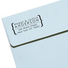 "CUSTOM ADDRESS STAMP - Eco Friendly & self inking, gifts for wedding, housewarming, etsy labels, return address stamp ""Name25"""