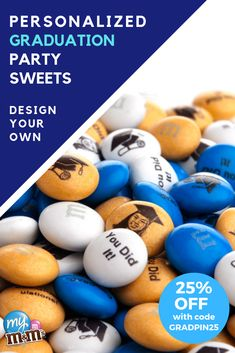 Enter at checkout to get off your order. Celebrate your new graduate with a personalized M&M'S gift! 5th Grade Graduation, Graduation Party Themes, College Graduation Parties, College Gifts, Graduation Celebration, Graduation Decorations, Graduation Day, Retirement Parties, Graduation Photos