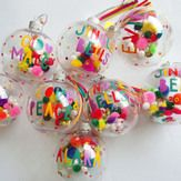 Personalised Colourful Christmas bauble - Kids & Baby's first