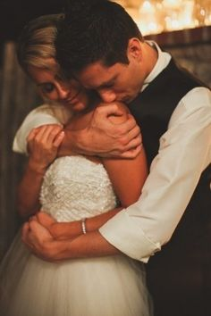 Cute, sweet, and intimate wedding photo idea