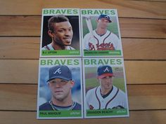 2013 Topps Heritage Atlanta Braves Lot 4 B J Upton Brandon Beachy Paul Maholm | eBay