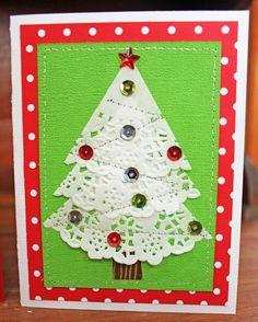 Doodlebug Design Inc Blog: Easy to Duplicate Christmas Doily Cards