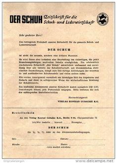 """Original PROSPEKT 1948 -  ZEITSCHRIFT """"DER SCHUH""""  - ca. 140 x 200 mm"""