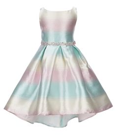 1818a4d2681 Shop for Rare Editions Little Girls 2T-6X Ombre Jacquard Hi-Low Dress at