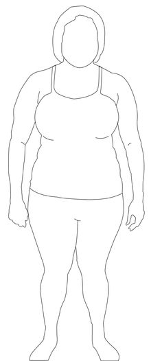 full figure croquis | Plus Size Woman Figure2 | Fashion ...