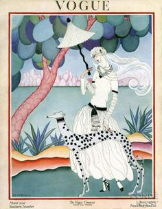 Vogue US Cover ~ January 1922 ~ Illustration by Helen Dryden (American, 1887-1981)