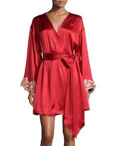 La Perla Maison Lace-Trim Short Robe 6d5c73436