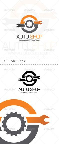 Auto Shop - Logo Design Template Vector #logotype Download it here: http://graphicriver.net/item/auto-shop-logo/6445362?s_rank=1218?ref=nexion
