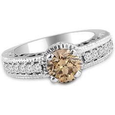Jewelry Point - 1.50ct VS2 Champagne Brown Diamond Engagement Ring Vintage Style, $3,950.00 (http://www.jewelrypoint.com/1-50ct-vs2-champagne-brown-diamond-engagement-ring-vintage-style/)