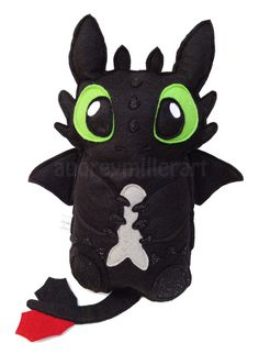 My handmade Toothless plushy is now available as a Made to Order item! Each Toothless is made from felt and is lovingly sewn together by me! This