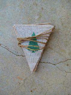 Christmas Mini Banner Bunting Mantel Decor / Christmas Photography Prop / Burlap Banner / Hostess Gift. $19.00, via Etsy.