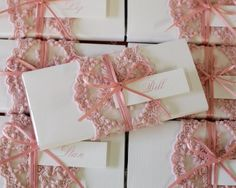 Pink Lace Personalised Chocolate Bar Bonboniere