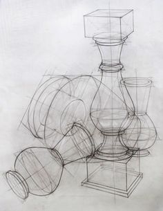 Basic Drawing, Drawing Tips, Drawing Reference, Still Life Sketch, Structural Drawing, Academic Art, Perspective Drawing, Layout, Art Tutorials