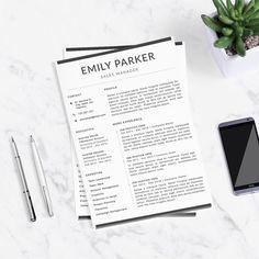 Professional Resume Template + Cover Letter for Word  -  buy here: theResumeDesign.etsy.com |   | resume writing, resume design, cv design, cv