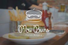 Logo for Mr. Buns, french burger-bar on Behance