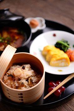 杉わっぱサザエ飯と京都巻き