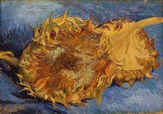 Vincent van Gogh, Two cut sunflowers, 1887