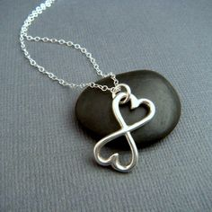 Infinity heart necklace. Perfect gift for a stepdaughter or stepmom. Blending two families forever.