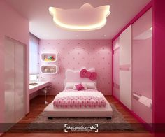 gorgeous 31 Excellent Hello Kitty Themed Bedroom Design Ideas That Looks So Cute Kids Bedroom Designs, Kids Bedroom Sets, Room Design Bedroom, Bedroom Furniture Design, Room Ideas Bedroom, Kids Room Design, Home Room Design, Bedroom Themes, Bedroom Decor