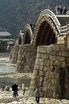 The old Samurai Bridge. Japan