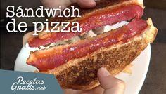 Sándwich de pizza #RecetasFáciles #RecetasparaNiños #ComidaDivertidaparaNiños #CocinaCreativa #Sándwich #Pizza