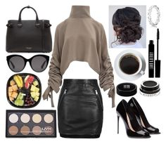 """""""Work day"""" by musicmelody1 on Polyvore featuring Topshop, Givenchy, Lord & Berry, Pandora, Burberry, Gucci and NYX"""